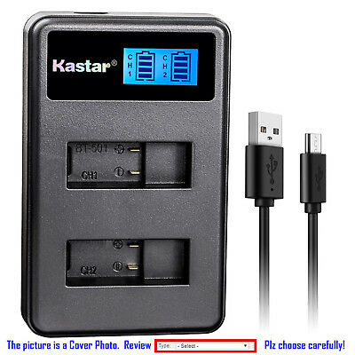 Kastar Battery LCD Dual Charger for GoPro AHDBT-501 Hero 5 GoPro Hero5 HD Silver