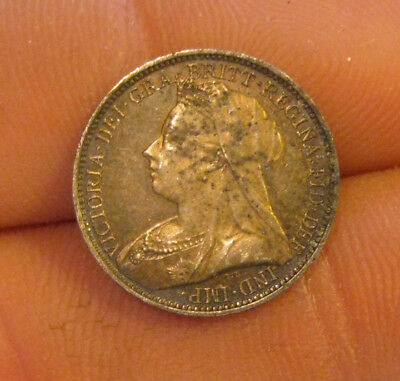 Great Britain - 1895 Silver 4 Pence - Nice!