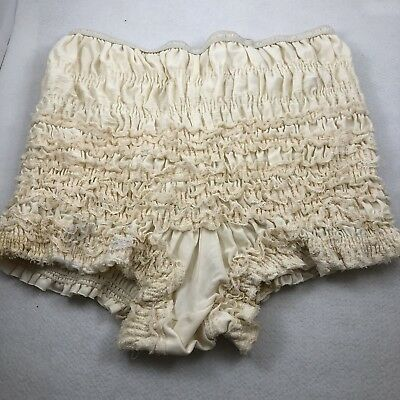 SAM'S Antique White Nylon Bloomers Pettipants Panties Square Dance 501 Medium