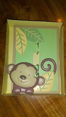 Little Boutique Monkey Decorative Switch Plate Cover Baby Toddler Room