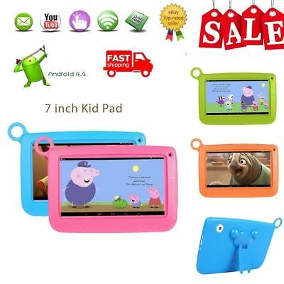 "Dual Camera 7"" Android 4.4 Quad Core Kids Tablet 8GB WIFI HD Touch Screen PC UK"