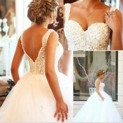 Ivory Ball Gown Sweetheart Crystal Bead