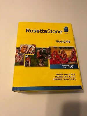 Brand New Sealed Rosetta Stone French Francais Software Level 1-3 Version 4