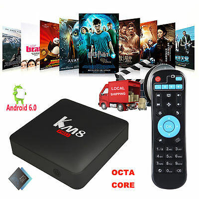 OCTA CORE AMLOGIC S912 Android 6 0 2+8GB 4K Smart TV BOX KM8 PRO Network  Media X