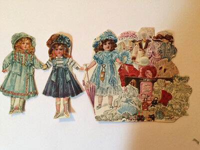 Antique Victorian Advertiser For Dolls From 1899 Scrapbook Cutouts