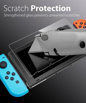 9H+ Real Premium Tempered Glass Film Screen Protector Skin For Nintendo Switch