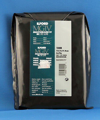 Ilford 5x7 Multigrade IV RC Deluxe Pearl B&W Photographic Paper x 100 Sheets