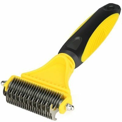 Pets Tool Comb Grooming Brush Tool Sided Steel for Dogs Cats Long Short Hair Pet