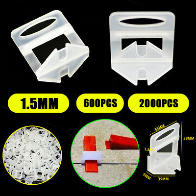600/2000x Tile Leveling System Clips Levelling Spacer Tiling Pro Tool Wall Floor