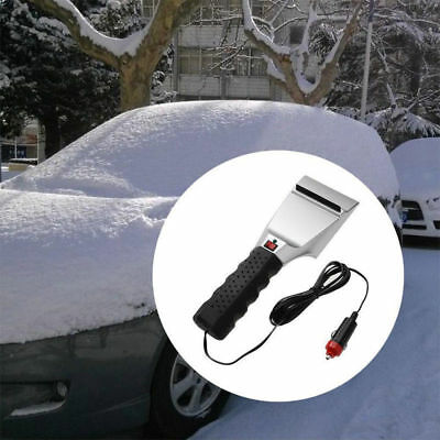 Car Winter Snow Ice Brush Shovel Electric Windshield Heated Scraper Removal New