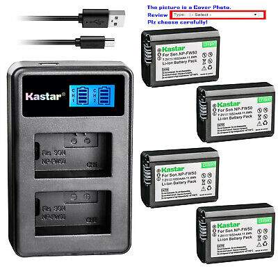 Kastar Battery LCD USB Charger for Sony NP-FW50 BC-VW1 Sony Cyber-shot DSC-RX10