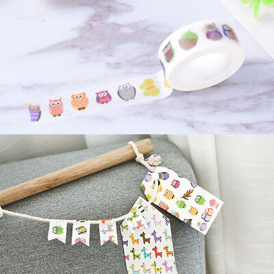 Ctue owl washi tape DIY decoration scrapbooking planner masking adhesive tape EB