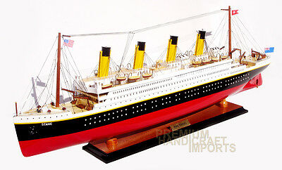 "40"" RMS Titanic Model Ship Handcrafted by master craftsmen"