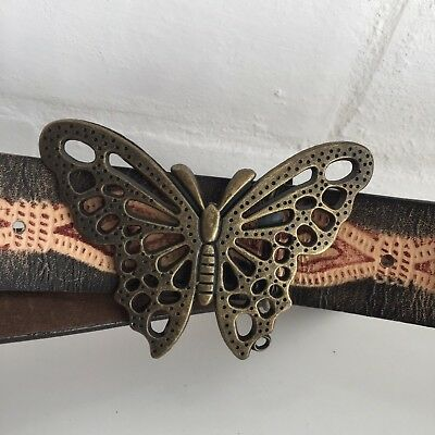 BUTTERFLY Belt Buckle HIPPY Boho Chic Fab with JEANS