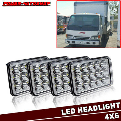 2Pair 4x6'' LED Headlights Sealed Beam For GMC W3500 W4500 W5500 Jimmy Caballero