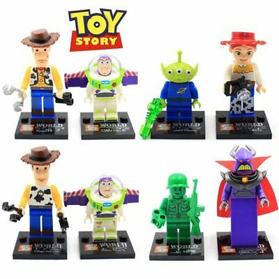 8pcs Toy Story Buzz Lightyear Woody building blocks for children juguetes