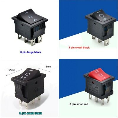 On/Off/ON Large/Small 4 Models Rectangle Rocker Switch Car Dashboard Boat Van