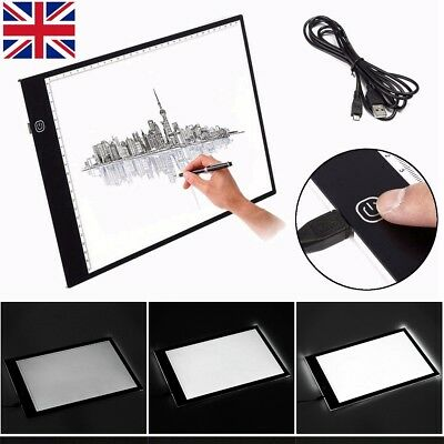 A3 A4 LED Ultra Slim Art Craft Drawing Copy Tracing Tattoo Light Box Pad Board