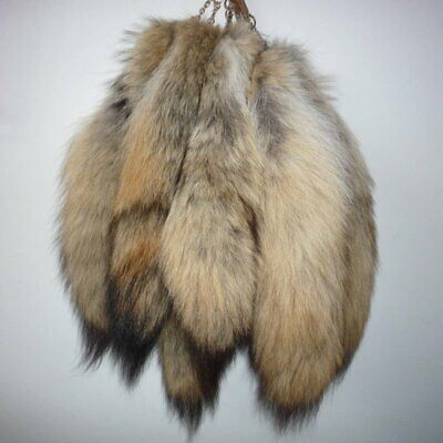 10pcs Real Bush Wolves wolf coyote tails Keychain Fur Tassel bag charm Key Ring