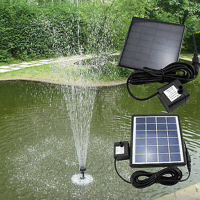 solar pumpe teichpumpe mit akku springbrunnen brunnen garten teich wasserspiel eur 17 27. Black Bedroom Furniture Sets. Home Design Ideas
