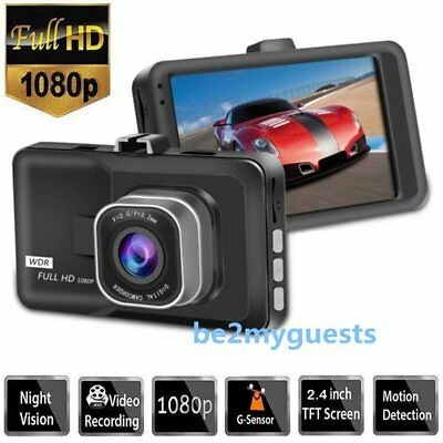 "3"" Full HD 1080P Car DVR CCTV Dash Camera G-sensor Vehicle Video Cam Recorder JI"