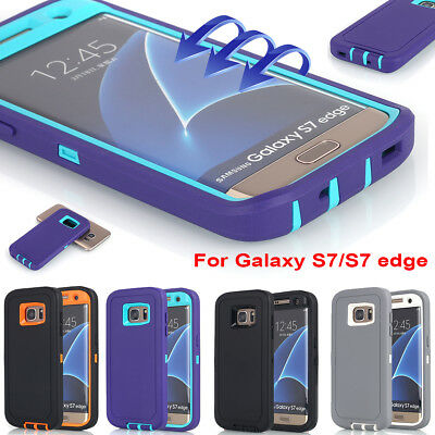 Samsung Galaxy S7/ S7 Edge Case, 360 Full Shockproof Heavy Duty Hard Armor Cover