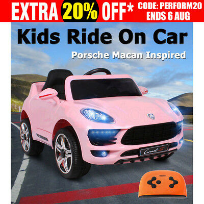 Electric Kids Ride On Car Porsche Macan Inspired Toys Battery Remote Realistic