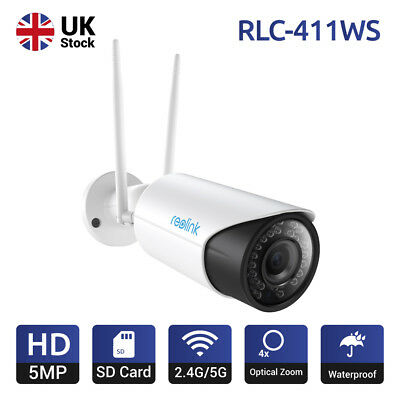 5MP WiFi Wireless Network Security IP Camera 16GB Micro SD Reolink RLC-411WS