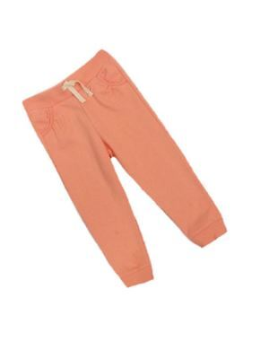 F&F Girls Lace Trim pockets Joggers Jogging Bottoms Pale Orange Age 2 3 4 5 SALE