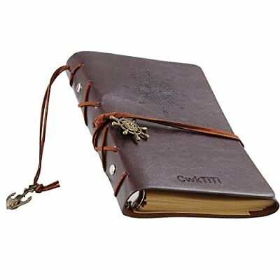 Daily Notebook CWKTITI Vintage Retro Classic PU Leather Cover Bound Notebook ...
