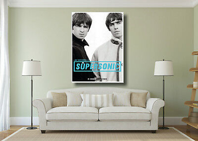 Oasis Noel Liam Gallagher Supersonic Large Wall Art BOX CANVAS Print