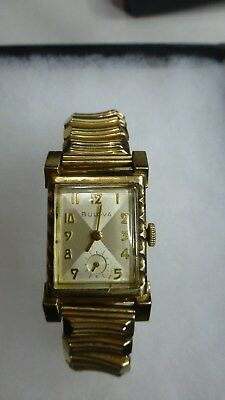 FABULOUS 21J 1950's BULOVA L3 YELLOW GOLD FILL ULTRA ART DECO MENS VINTAGE WATCH