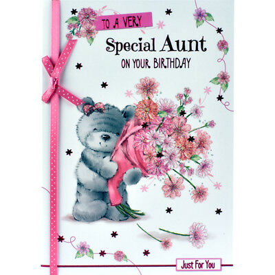 Aunt Birthday Card With Insert To A Very Special Aunt Happy
