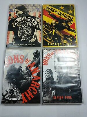 Sons of Anarchy: Complete Seasons 1-4 on DVD. Like NEW