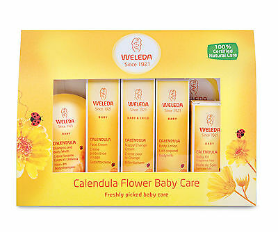 Weleda Calendula Babycare Gift Set - 5 Piece Mini Set - Vegan