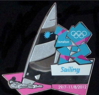 London 2012 Olympics Sailing Laser Class Venue Collection Sports Pose Pin Badge