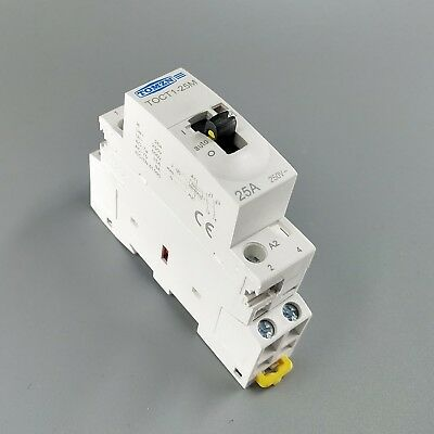 TOCT1 25A 1NO  1NC 220V  Household ac contactor With Manual Control Switch