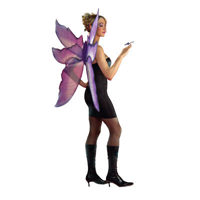 Purple and Silver Fairy Wings Fantasy