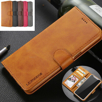 For iphone 7 plus/XS max Flip Luxury Retro Leather Wallet Card Stand Case Cover