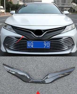 For Toyota Camry 2018 Carbon Fiber Front Grille V type Trim