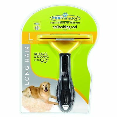 FURminator Long/Short Hair deShedding Tool Large for Dogs/Cats