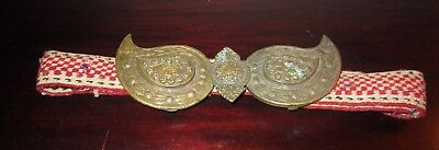 ANTIQUE  Bulgarian BUCKLE AND BELT
