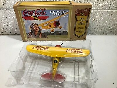 VINTAGE Coke Coca-Cola ERTL 1929 Lockheed Air Express Diecast Plane Bank 1994