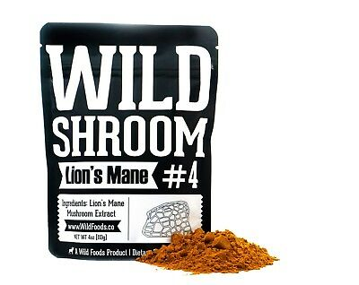 Lion's Mane Mushroom Extract Powder 10:1 Wild Shroom #4 Medicinal by Wild Foods