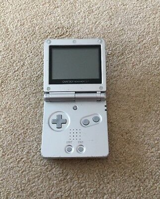 Nintendo Game Boy Advance SP Silver Fully Working PAL - AGS-001