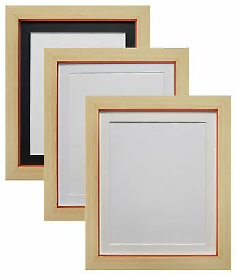 Magnus Beech with Orange Picture Photo Frame with black, White and Ivory Mounts