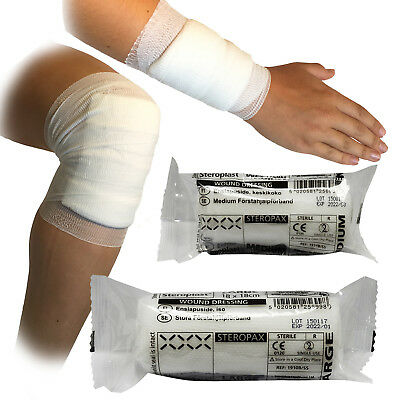 Steroplast Steropax CE Approved Sterile First Aid Bandage Dressings, 2 Sizes