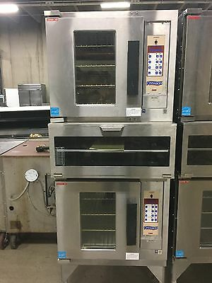 Lang Electric Double Stack Half Size Convection Oven with Storage barely used