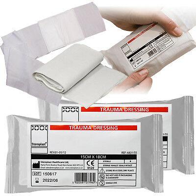 Steroplast Trauma Wound Injury FFD Haemostatic Field Sterile Bandage Dressing