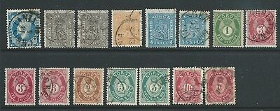Norway Fine Lot Duplicated Earlies Used Interesting!